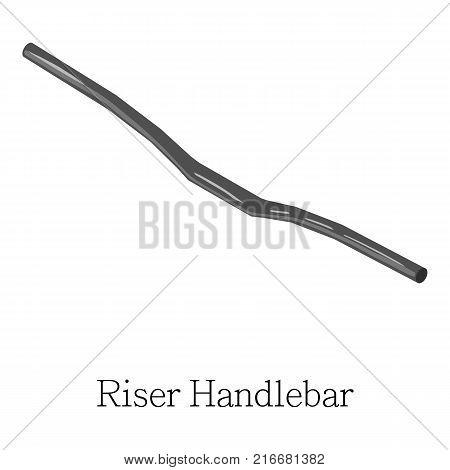 Riser handlebar icon. Isometric illustration of riser handlebar vector icon for web