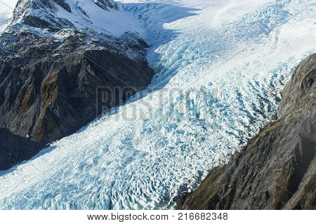 Franz Joseph Glacier, situated in New Zealand