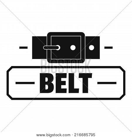 Belt fashion logo. Simple illustration of belt fashion vector logo for web