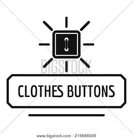 Clothes button logo. Simple illustration of clothes button vector logo for web