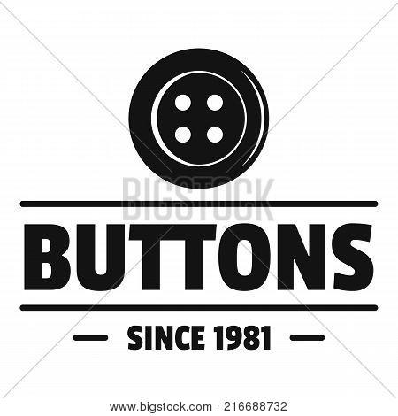 Clothes button dressmaking logo. Simple illustration of clothes button dressmaking vector logo for web