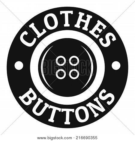 Clothes button vintage logo. Simple illustration of clothes button vintage vector logo for web