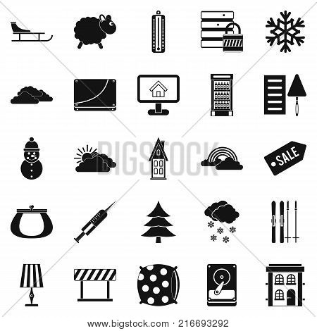 Home furnishing icons set. Simple set of 25 home furnishing vector icons for web isolated on white background