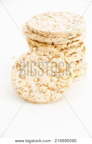Crispy Potato Chips And Crumbs, On White Background.