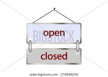 tablet open closed . Vector illustration .shop vintage poster