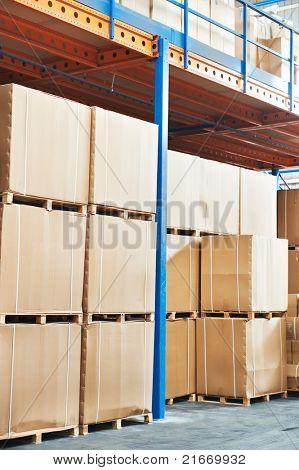 warehouse cardboard boxes stockpile arrangement outdoors