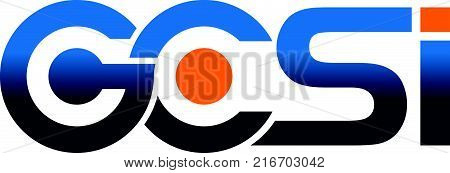 Modern Logo Solution Letter G C S I Logo Design Template Vector