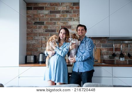 Young Family With Pets