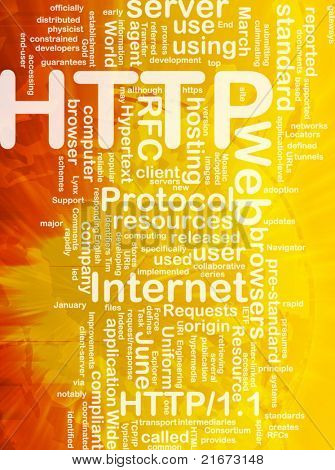 Word cloud concept illustration of web HTTP international