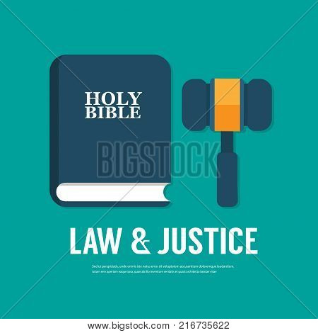 law Icon in trendy flat style isolated