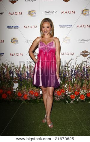 LOS ANGELES, CA - MAY 19: Lauren C. Mayhew arrives at the 11th annual Maxim Hot 100 Party at Paramount Studios on May 19, 2010 in Los Angeles, California