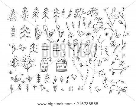Hand Drawn Floral Arrangement.