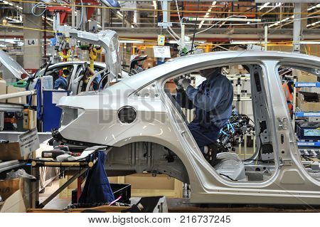 Assembling In The Automotive Plant.