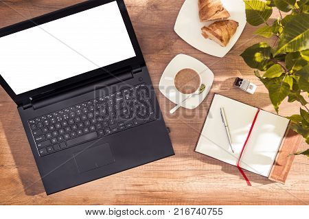 Computer with empty space for your text