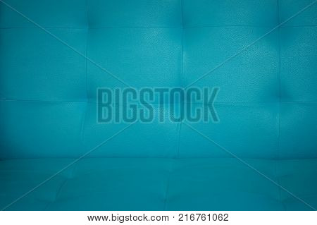 Pastel color of sofa texture Blue artificial leather sewn into the sofa Sofa texture for products display background