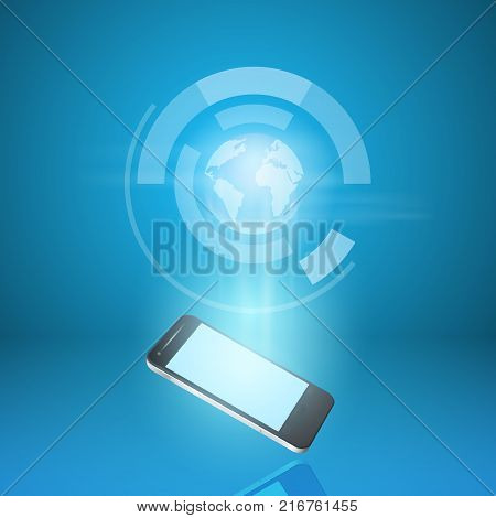 Touch screen mobile phone send mail world