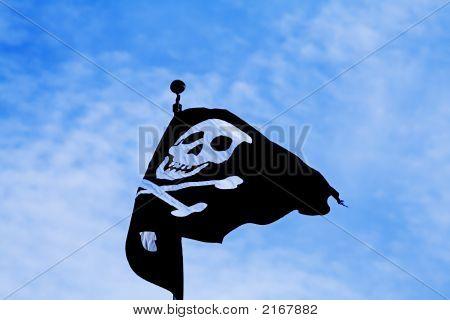 Pirate flag blue sky art crime