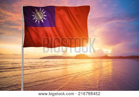 Flag with original proportions. Flag of the Taiwan