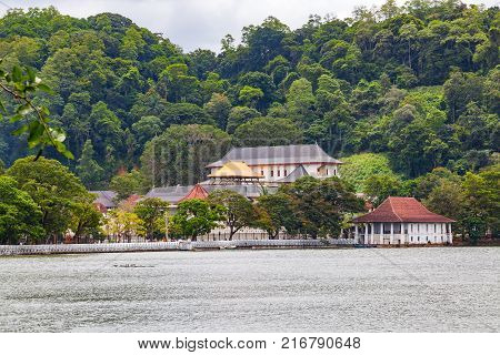 Temple of the Sacred Tooth Relic in The Royal Palace Complex Of The Former Kingdom Of Kandy Sri Lanka