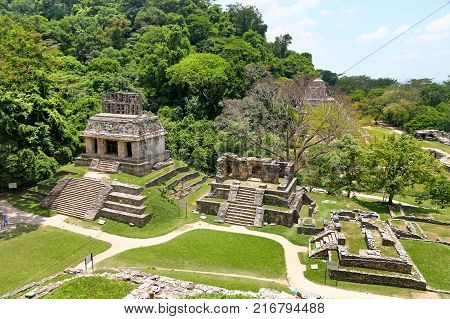 Ancient Maya ruins in Palenque Chiapas Mexico