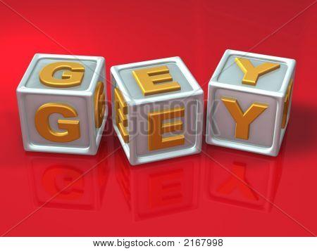 Block Letters - 3D Concept Illustration