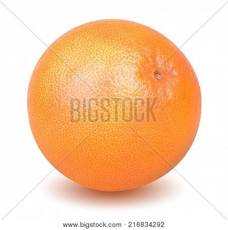 Isolated grapefruit. A whole grapefruit isolated on white background with clipping path