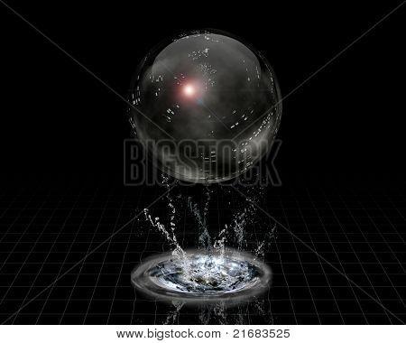 Crystal Sphere and splash