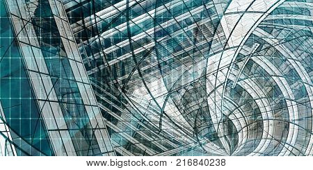 Modern Architecture Mesh City Wireframe Lines Basic