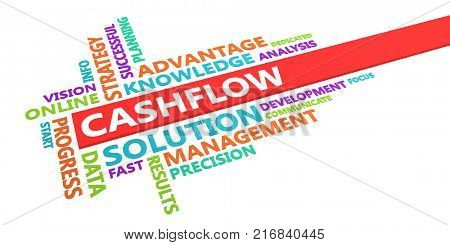 Cashflow Word Cloud Concept Isolated on White