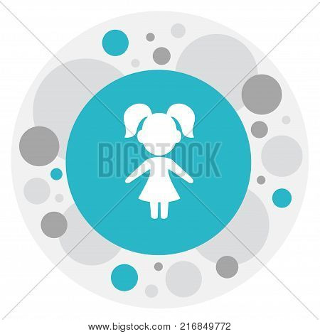 Vector Illustration Of Kin Symbol On Daughter Icon