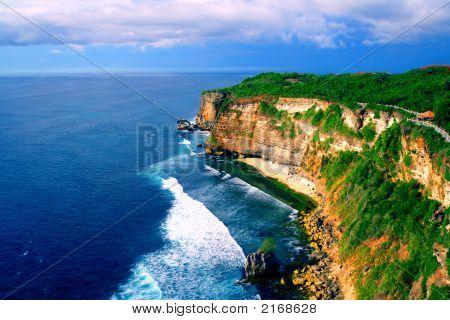 Great View Of Uluwatu Bali Beach