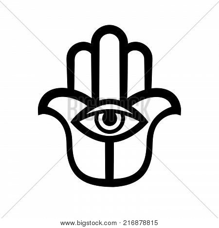 The Hand of Fatima (Hamsa), or Hand of God. Ancient traditional sacred protection amulet of The Middle East. Religious symbol in the Arabic, Jewish, Indian cultures.