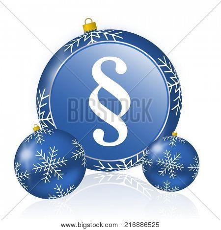 Paragraph blue christmas balls icon