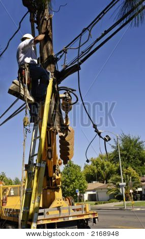 Securing Power Pole