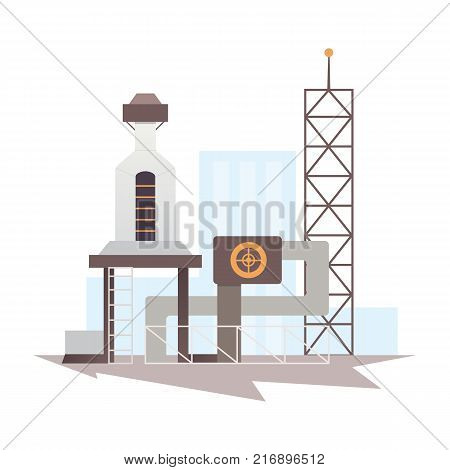 industrial factory building and plant. Industrial city construction vector illustrations.