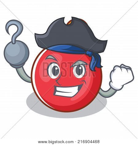 Pirate Christmas ball character cartoon vector illustration