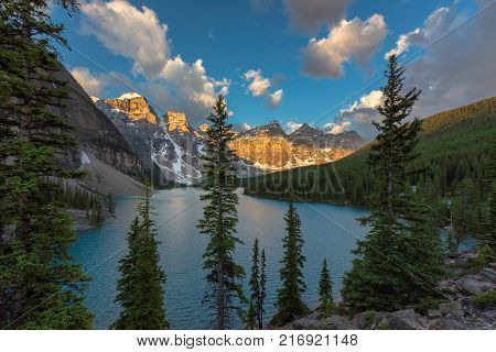 Moraine lake in Banff National Park, Canada.