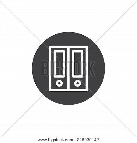 Archive folders icon vector, filled flat sign, solid pictogram isolated on white. Ring binder folder symbol, logo illustration.