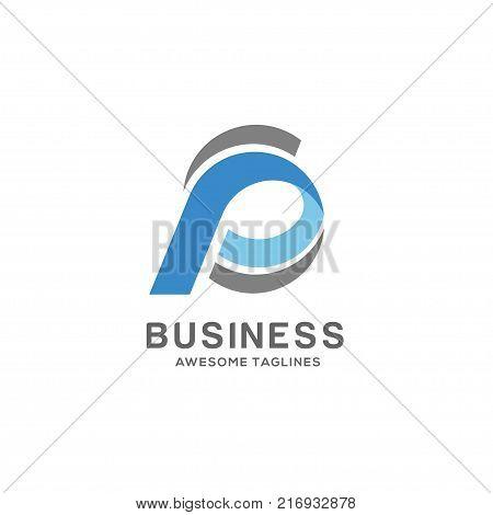 SP letter logo design vector illustration template, S letter logo vector, letter S and P logo vector, creative Letter SP letter logo