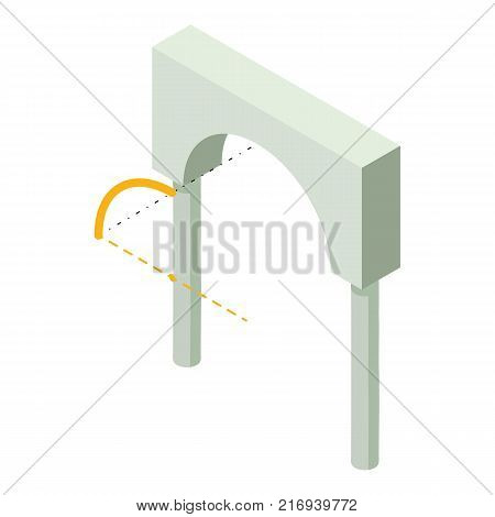 Arch built icon. Isometric illustration of arch built vector icon for web