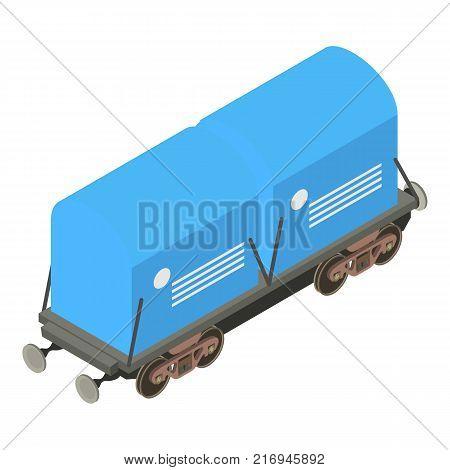 Wagon icon. Isometric illustration of wagon vector icon for web