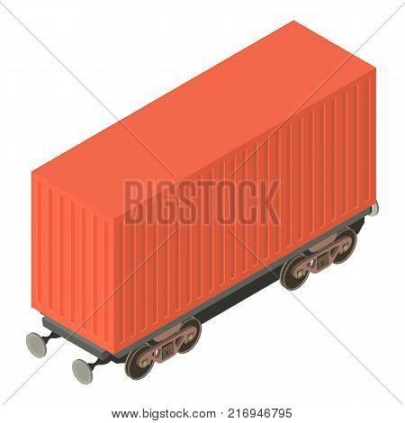 Wagon cargo icon. Isometric illustration of wagon cargo vector icon for web