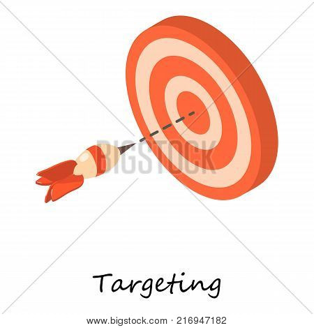 Targeting icon. Isometric illustration of targeting vector icon for web