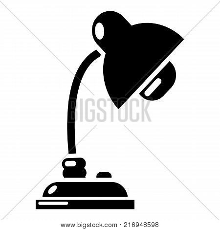 Reading lamp icon. Simple illustration of reading lamp vector icon for web