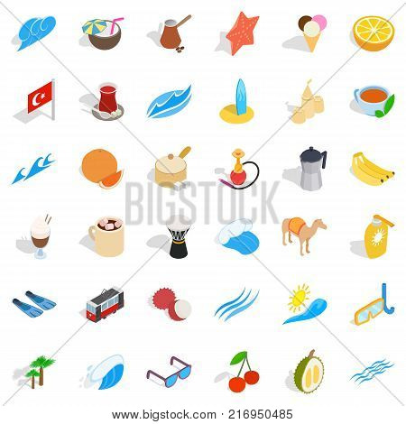 Istambul icons set. Isometric style of 36 istambul vector icons for web isolated on white background