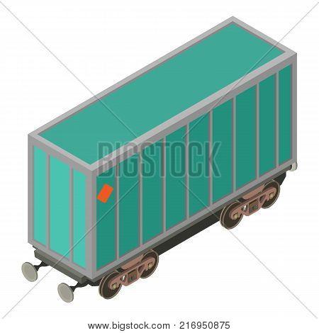 Wagon locomotive icon. Isometric illustration of wagon locomotive vector icon for web