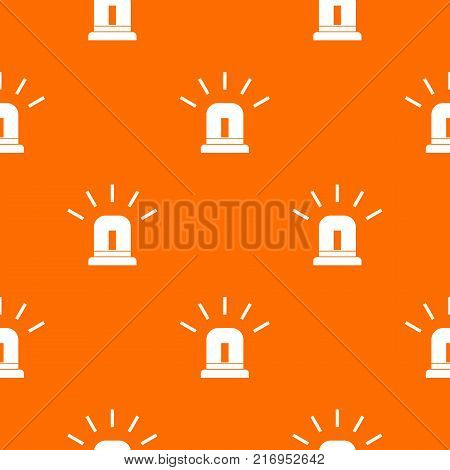 Blue special police flasher pattern repeat seamless in orange color for any design. Vector geometric illustration