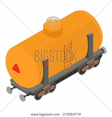Wagon gasoline icon. Isometric illustration of wagon gasoline vector icon for web
