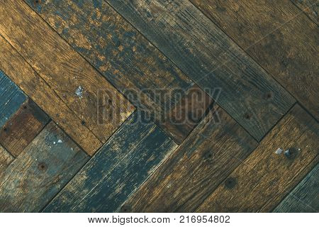 Reclaimes rustic wooden barn door, wall or table texture, background and wall, horizontal composition