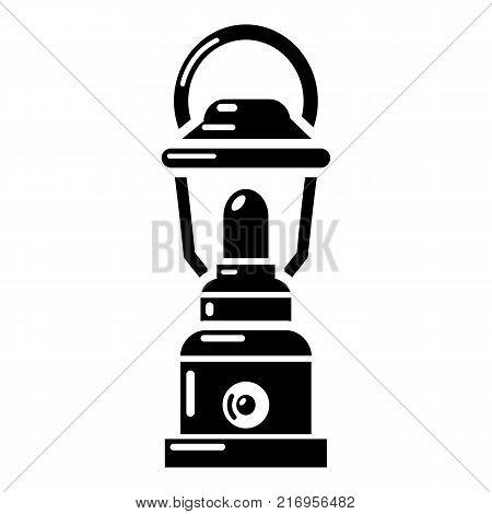 Kerosene lamp icon. Simple illustration of kerosene lamp vector icon for web